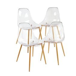 GreenForest Acrylic Dining Side Chairs Lucite Transparent Cl
