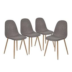 GreenForest Dining Side Chairs Strong Metal Legs Fabric Cush