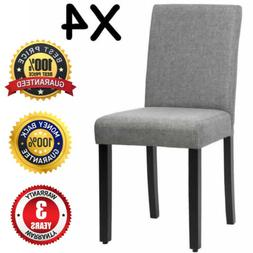 Grey Upholstered Dining Chair Kitchen Chair Set of 4 for Kit