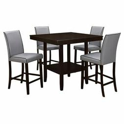 Home Source Industries Grigio 5 Piece Counter Height Dining
