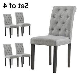 YEEFY Habit Solid Wood Tufted Parsons Dining Chair