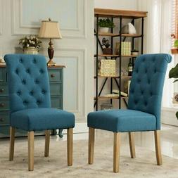 Roundhill Furniture Habit Tufted Parsons Dining Chair - Set