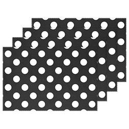 Yochoice Hipster Colorful Spot Black White Polka Dot Circle