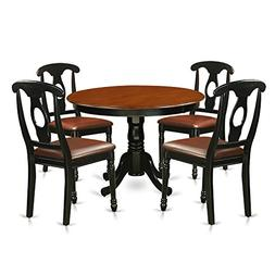 East West Furniture HLKE5-BCH-LC 5Piece Hartland Set with On