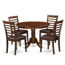 East West Furniture HLML5-MAH-LC 5 PC Hartland Set with One
