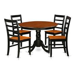 East West Furniture HLPF5-BCH-W 5Piece Hartland Set with One