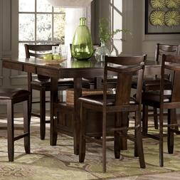 Weston Home Broome Expandable Storage Counter Height Dining