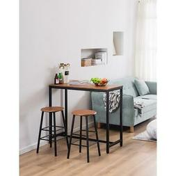 Hot 3 Piece Bar Table Set 2 Stools Bistro Pub Kitchen Dining
