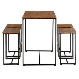 Hot 5 Piece Wood Dining Table Set 4 Chairs Kitchen Room Brea