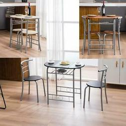 Hot Style Dining Set Table and 2 Chairs Breakfast Bistro Des