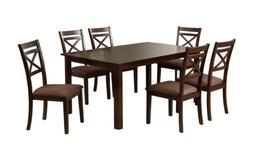 Furniture of America 7-Piece Hudson Rectangular Dining Table