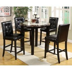 247SHOPATHOME IDF-3188PT-40-5PC Dining-Room-Sets, Black