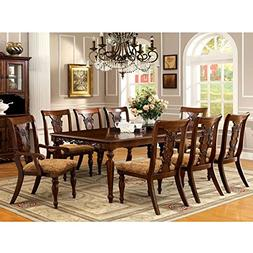 247SHOPATHOME IDF-3880T-7PC Dining-Room-Sets, Brown