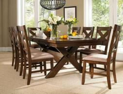 karven 9 piece solid wood dining set