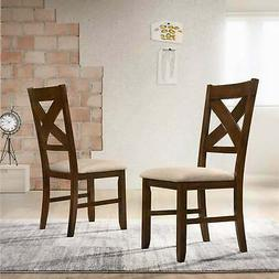 Karven Solid Wood Dining Chairs , Set of 2