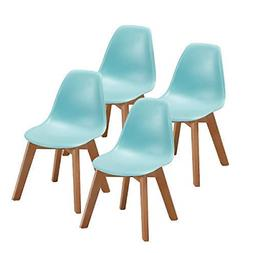 VECELO Kids Size Eames Side Chair Dining Room Chair Set of 4