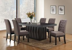Kings Brand 7-Piece Rectangular Dinette Dining Room Set, Tab
