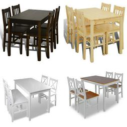 vidaXL Kitchen Dining Set Wooden Furniture Table and Chairs