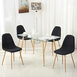 Mecor 5 Piece Kitchen Dining Table Set Glass Top Table/4 Eam