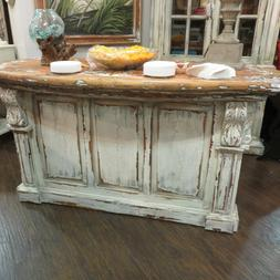 Kitchen Island Cottage Farmhouse Distressed Corbels Majestic