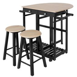 Space Saving Foldable Tabletop Dining Table Set Wood Kitchen