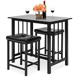 Best Choice Products Kitchen Marble Table Dining Set w/ 2 Co