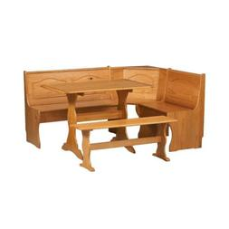 Kitchen Nook Solid Wood Corner Dining Breakfast Set Table Be