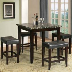Small Kitchen Furniture Square Dinette Table 5-Pc Dining Set