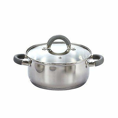 Cook N Home 12 Cookware Set, Silver