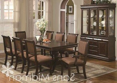 10 Piece Bordeaux Formal Dining Room: Table 8 Chairs Buffet