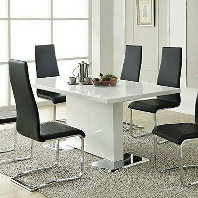 102310 dining table glossy white