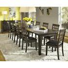 "13 Piece Dining Set Solid Wood LONG 132"" Extendable Table -"
