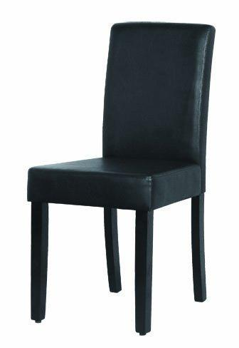 2 parson leather dining chairs