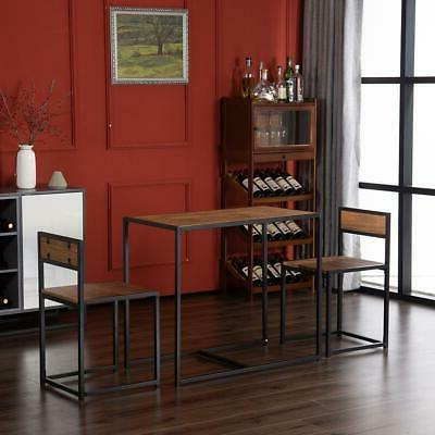 2 Dining Table And Chairs Kitchen Room Furniture Set New