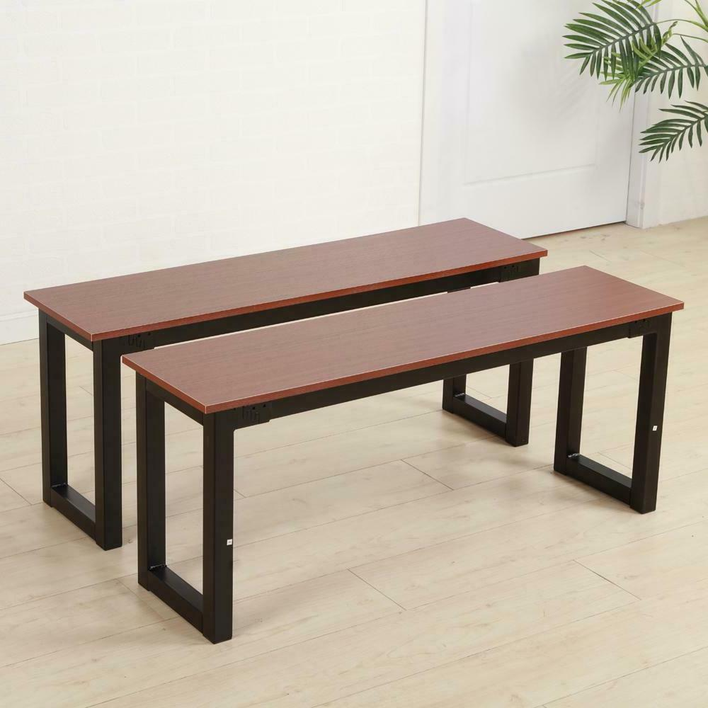 2pcs Iron Frame Benches Modern Kitchen Room Dining Room Chai