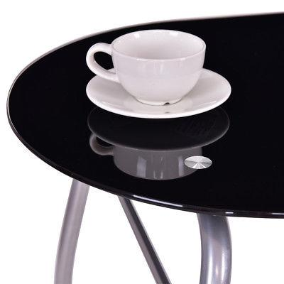 3 Dining Tempered Glass Top 2 Furniture