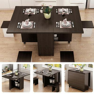 3 in 1 folding dining table set