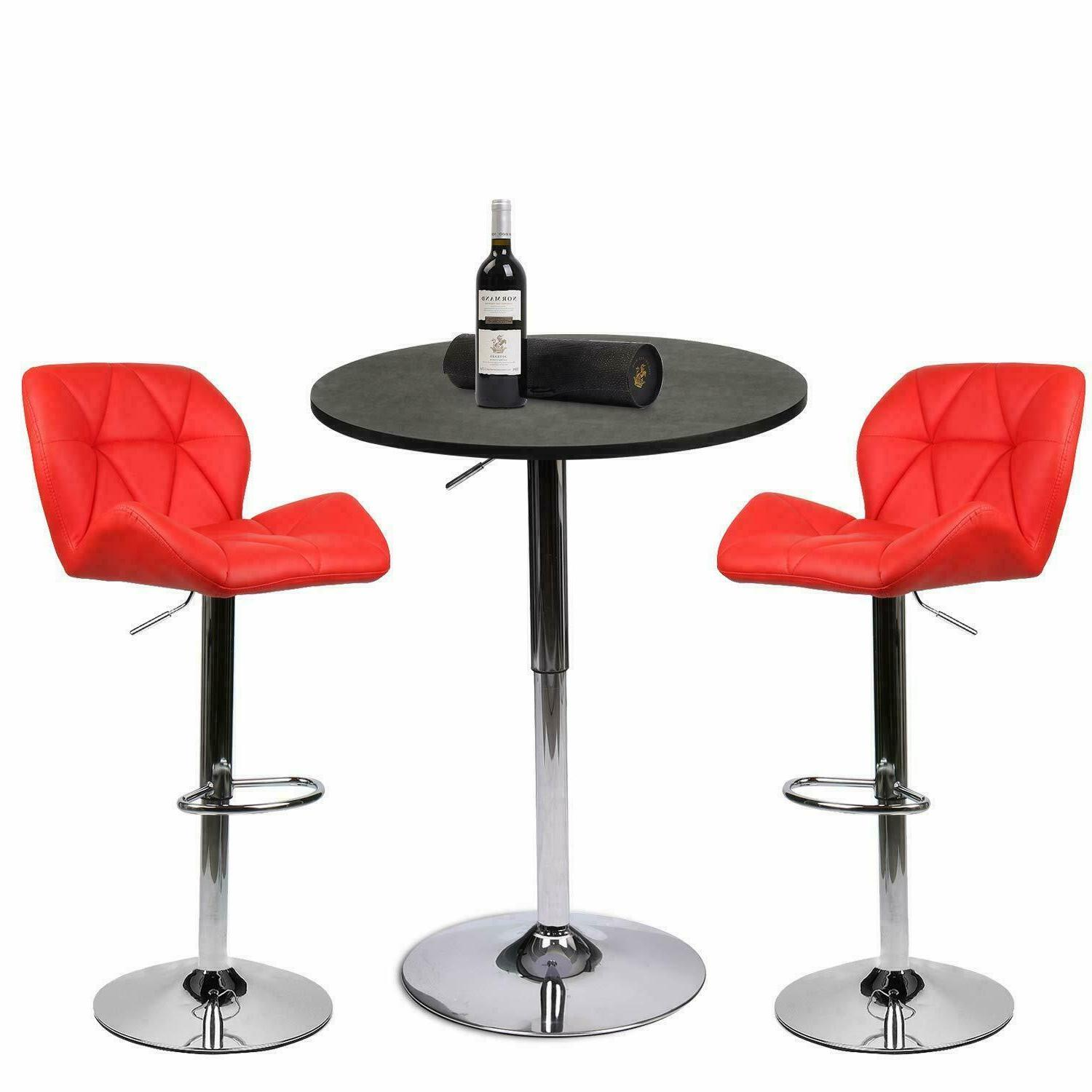 3 Counter Dining Bar Table 2 Stools Pub Furniture