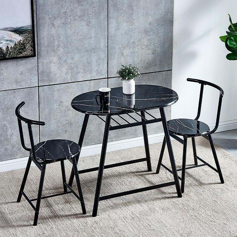 3 pcs dining set 2 chairs table
