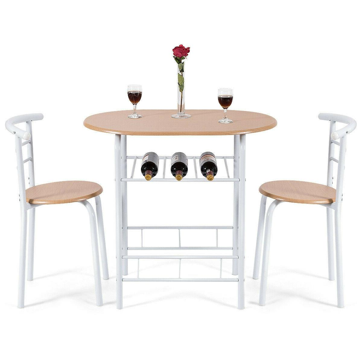 3 Bistro Pub Table 2 Chairs Set
