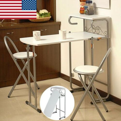 3 Wood Folding Dining 2 Chairs Kitchen