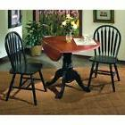 Sunset Trading 3-Piece 42 in. Round Drop Leaf Dining Set wit