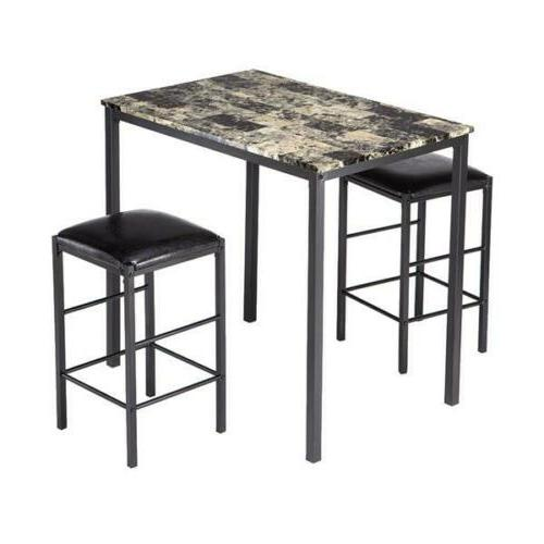 3 Piece Dining Set Table and 2 Kitchen Bar