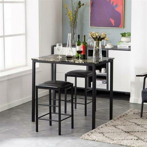 3 Dining Set Table and Kitchen Bar New