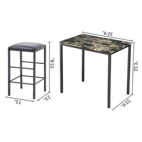 Dining Faux Marble Table and Kitchen Bar