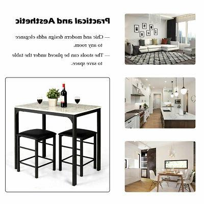 3 Dining Faux Table Kitchen Bar