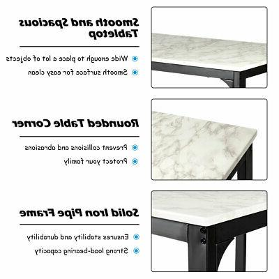 3 Height Dining Set Table 2 Kitchen Bar New