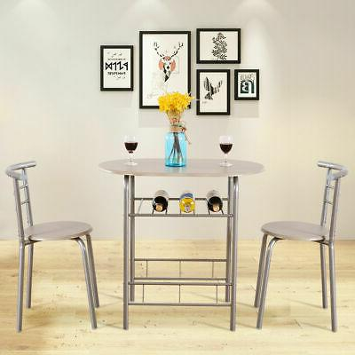 3pcs dining table chair set kitchen furniture