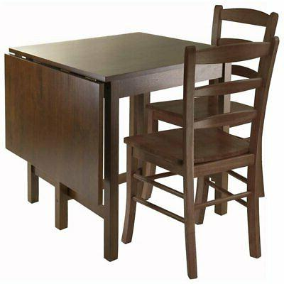 Pemberly Row 3 Piece Drop Lift Dining Set in Antique Walnut