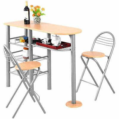 3 piece pub dining set counter height